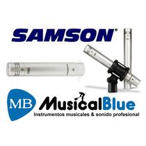 Microfono Condenser Samson C02 El Par Con Garantia Oficial