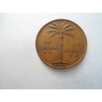 Republica Dominicana 1 Centavo 1955 Hermosa Palmera