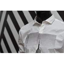 Camisa De Noche Blanca Estampada Print - Relax Multimarcas