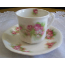 Dúo De Café Taza Y Plato Porcelana Inglesa Grindley