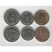 Serie De 3 Monedas De Singapur Sin Circular