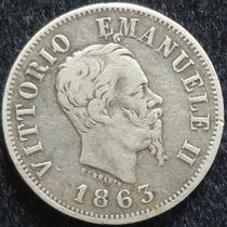 Italia , 50 Centesimi De Plata Año1863............. Blamanan