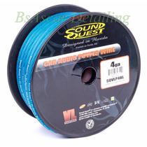 Rollo De Cable Sound Quest 4ga Azul De 33 Metros Audio Car