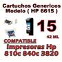 Cartucho Hp 6615d 15 6615 P/ Impresoras Hp 810c 840c 3820