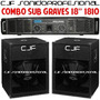 2 Bafles 1810 Graves Woofer 18 700 W + Potencia Moon 1200 W