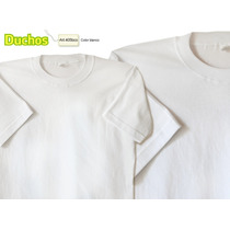 Remera Lisa Blanca Adultos Manga Corta. Alg 24-1 Card.