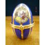 Pastillero O Souvenir De Porcelana Con Pintura De Oro
