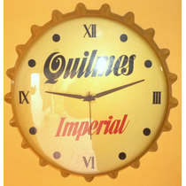 Antiguo Cartel Reloj Cerveza Quilmes Funcionando