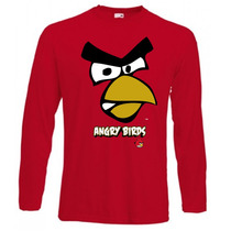 Remeras De Angry Birds De Mangas Largas