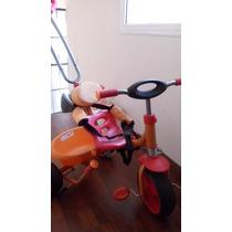 Triciclo A Pedal Y Manija Multidireccion Kiddy