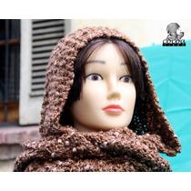Capucha Mystique Lana Diseño Tejidos De Punto Cocoa Tissu
