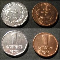Argentina 1 Moneda 1 Centavo Baño De Plata Año 1998