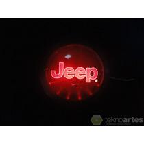 Insignia Luminosa Jeep - Logo Con Luces Led - Tuning