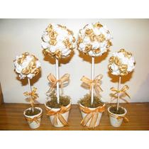 Topiarios Flores En Raso - Souvenirs - Centros De Mesa -