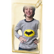 Remera Batman Con Luces Led Para Nenes. Unicas En El Pais