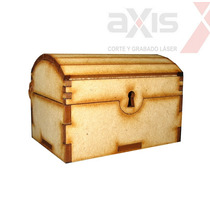 10 Cofres De 10cm Souvenir Caja Tesoro Baul Fibrofacil Mdf