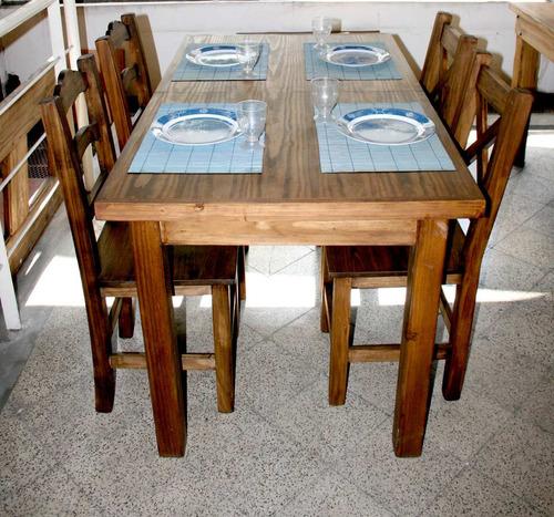 j comedor mesa extensible c sillas rstica campo