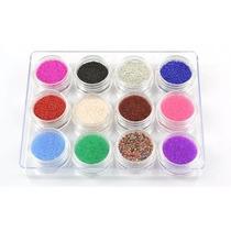 Decoracion Nail Art Caviar,terciopelo,sirena X 12 Unidades