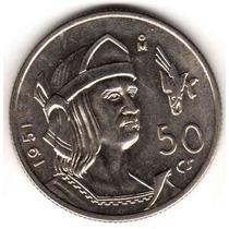 Moneda De Mejico Plata Año 1951 Cuauhtemoc Sin Circular