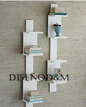Recibidor moderno estilo minimalista madera dise o d m - Esquineros para paredes ...