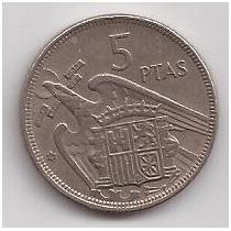 España Moneda De 5 Pesetas Año 1957 Estrella 58 !!!