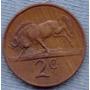 Sudafrica 2 Cents 1978 * Ñu Negro * Escudo *