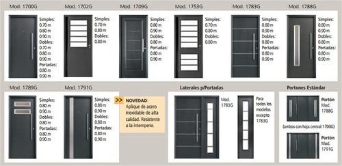 Puerta negra oblak 1788 exterior frente vidrio seguridad 3 - Puertas chapa exterior ...