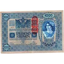 Billete De Austria De 1.000 Kronen Año 1919 Tamaño Grande