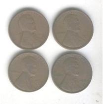 4 Monedas Estados Unidos De 1 Centavo 1919/39 S 1935/37 D