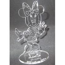 Souvenir Acrílico Cumpleaños Minnie, Mickey, Sapo Pepe