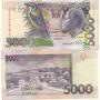 Billete Santo Tome Y Principe 5000 Dobras Año 2004 Pajaro