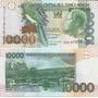 Billete Santo Tome Y Principe 10000 Dobras Año 2004 Pajaro