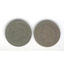 Moneda Estados Unidos 1 Centavo Año 1902, Cabeza De Indio!!!
