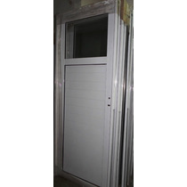 Puerta Exterior Aluminio Blanco 1/4 Vidrio Entero 70x200