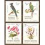 Pájaros Y Flores - Hermosa Serie Mint Completa Nº 1053/56 -
