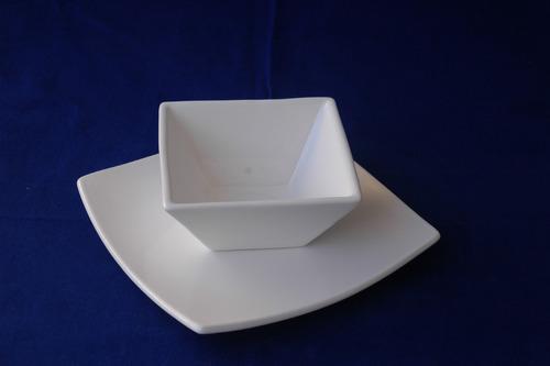 Platos cuadrados playos de ceramica - Juego para hacer ceramica ...