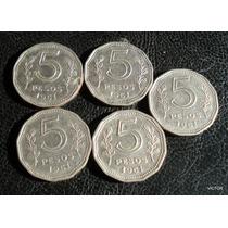 5 Pesos 1961 Se Vende El Lote De 5 Monedas