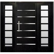 Portada Doble Nexo Exterior Negra Apliques Puerta Reforzada
