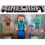 Minecraft X 12 Muñecos Articulados + Cajas + Armas. Envios