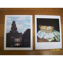 2 Láminas Importadas 24 X 30 Cm C/u Dali Y Magritte Oferta