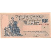 Billete 1 Peso Progreso Año 1946 Serie J Sin Circular