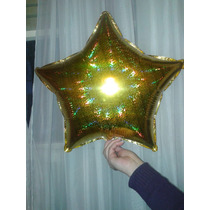 Estrella Metalizada Dorada De 18