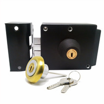 Cerradura Electrica Y Manual Con Llaves Porton Puerta Roa 2t