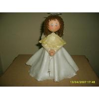 Angel En Porcelana Fria 35cm De Altura