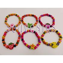 10 Pulseras Elásticas Multicolor Nenas Cumpleaños Souvenirs