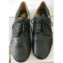 Lucerna Zapatos 36 Cuero Vacuno Negro C/ Tachas (ana.mar)