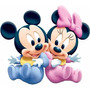 Kit Imprimible Minnie, Mickey, Pluto Bebe Tres Modelos Difer