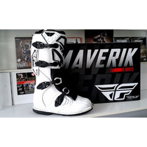 Botas Fly Maverik Blacas Enduro Cross Atv Boutique D2r