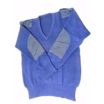 Tricota Seguridad Escote En V Color Azul Marino Talle Large