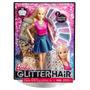 Muñeca Barbie Mattel Peinados Brillantes Peine Accesorios